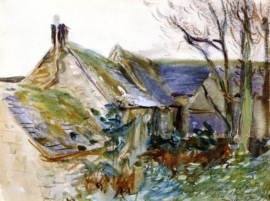 Cottage at Fairford Gloucestershire 1892 | John Singer Sargent | Oil Painting