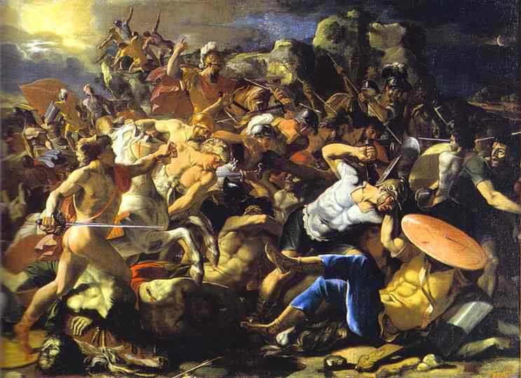 The Victory Of Joshua Over Amorites 1624-1626 | Nicolas Poussin | Oil Painting