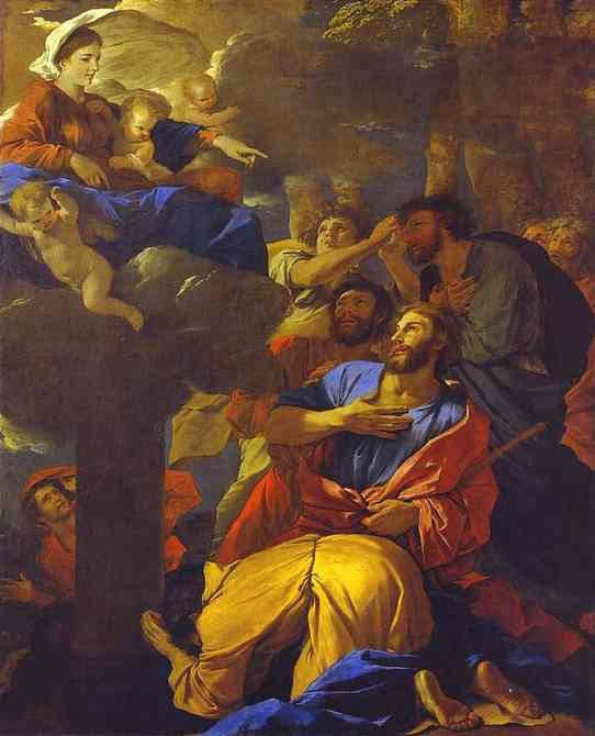 The Virgin Of The Pillar Appearing To St James The Greater 1628-1630 | Nicolas Poussin | Oil Painting
