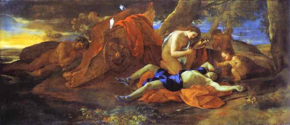 Venus Lamenting Over Adonis 1628 | Nicolas Poussin | Oil Painting