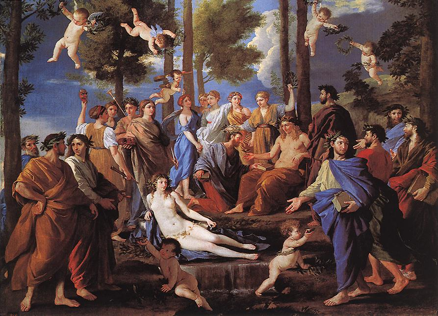 Apollo And The Muses Parnassus 1630s | Nicolas Poussin | Oil Painting