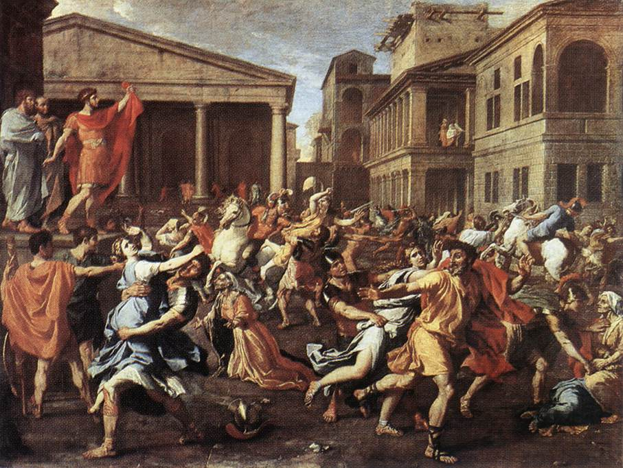 The Rape Of The Sabine Women 1637 | Nicolas Poussin | Oil Painting