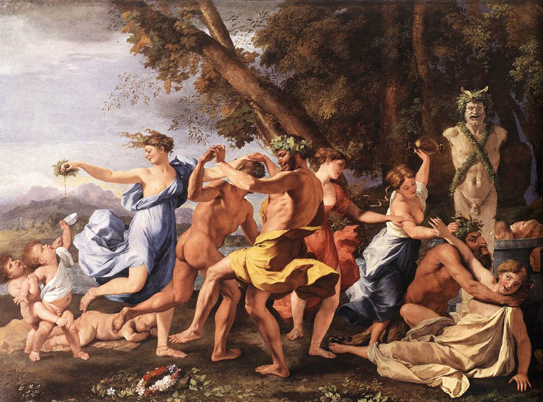 Bacchanal Before A Statue Of Pan 1631-33 | Nicolas Poussin | Oil Painting