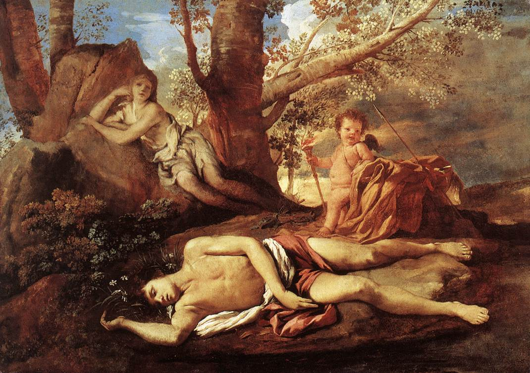 Echo And Narcissus 1628 | Nicolas Poussin | Oil Painting