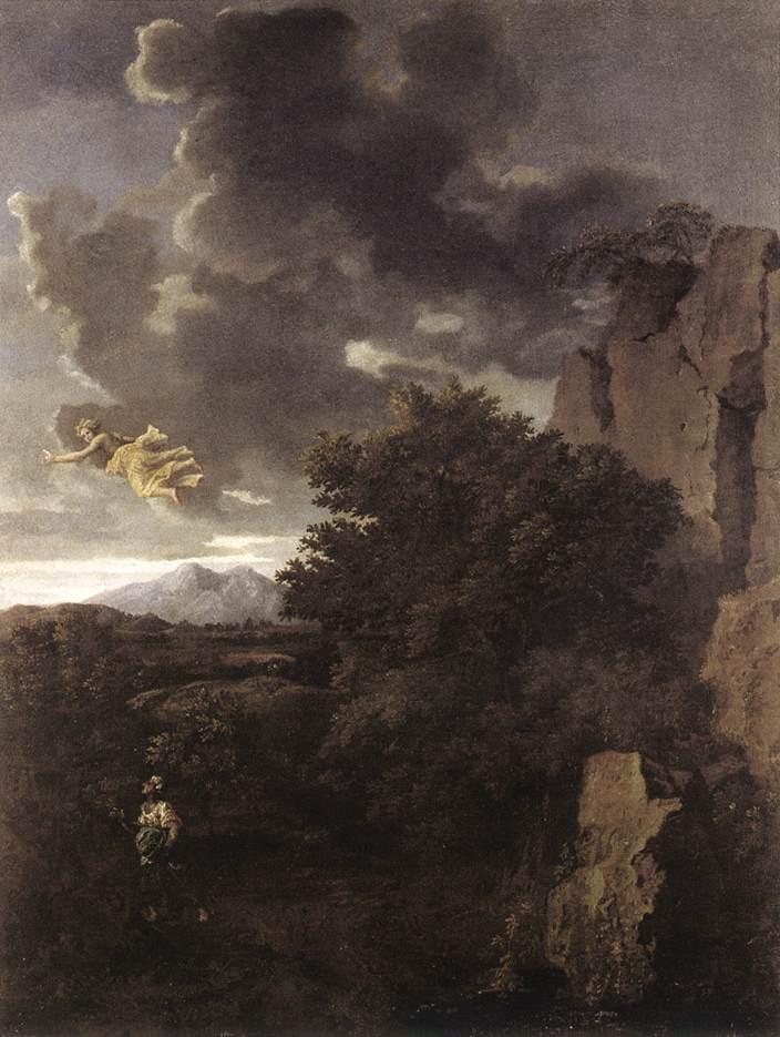 Hagar And The Angel 1660 | Nicolas Poussin | Oil Painting