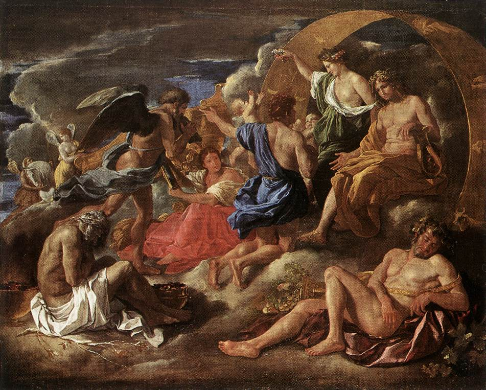 Helios And Phaeton With Saturn And The Four Seasons 1635 | Nicolas Poussin | Oil Painting
