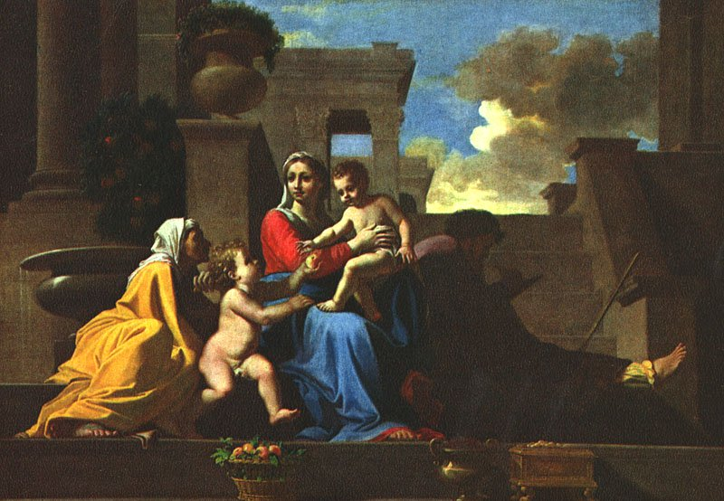 Holy Family On The Steps 1648 | Nicolas Poussin | Oil Painting
