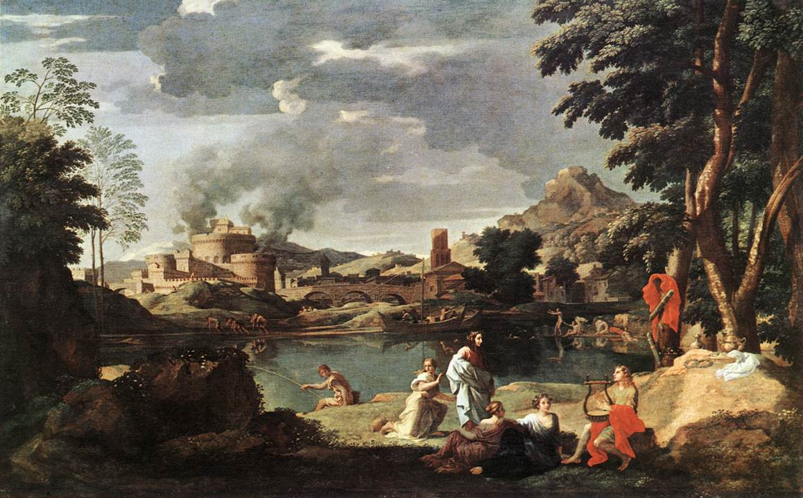Landscape With Orpheus And Euridice 1648 | Nicolas Poussin | Oil Painting
