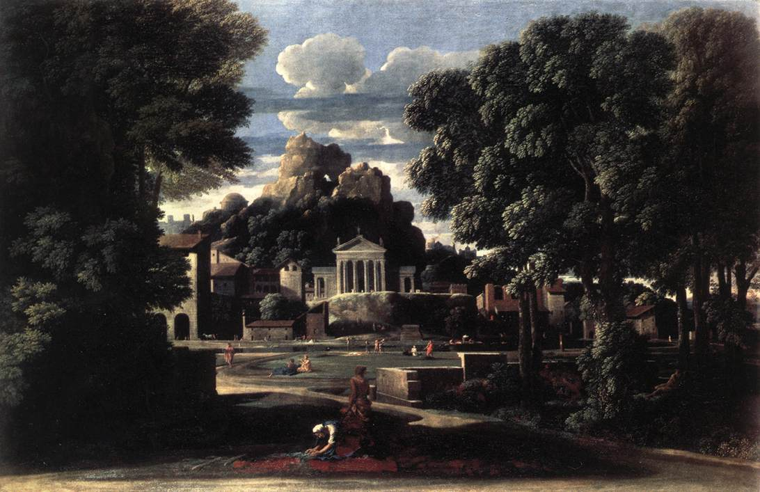 Landscape With The Gathering Of The Ashes Of Phocion By His Widow 1648 | Nicolas Poussin | Oil Painting