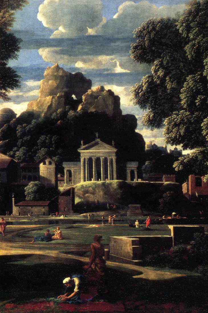 Landscape With The Gathering Of The Ashes Of Phocion Detail 1648 | Nicolas Poussin | Oil Painting