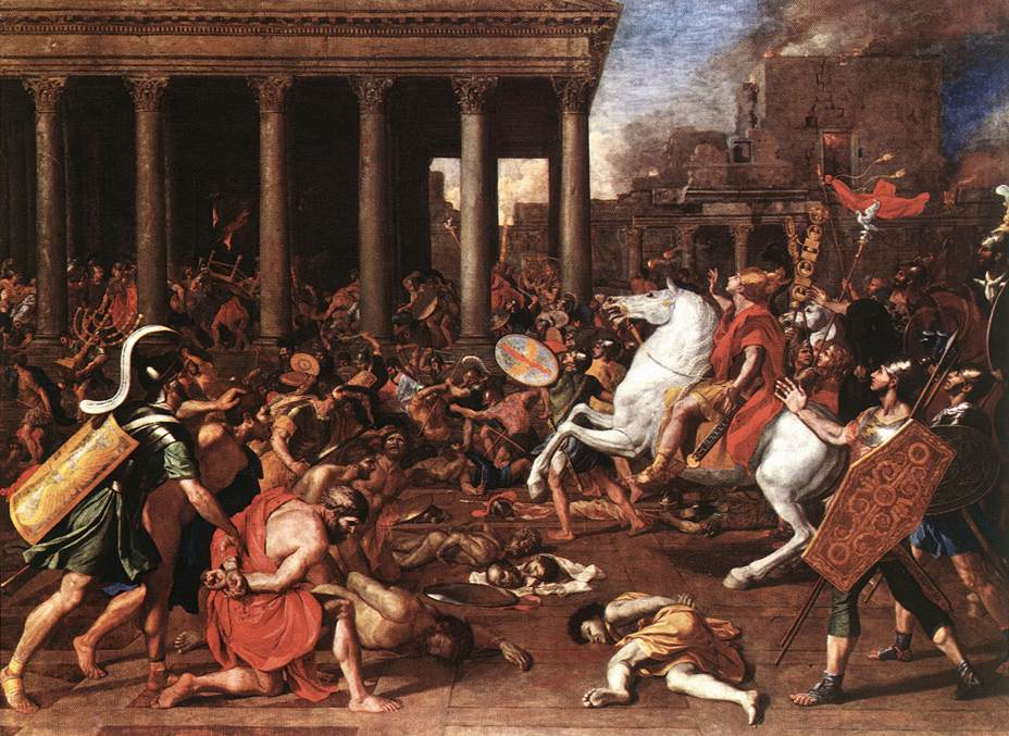 The Destruction Of The Temple At Jerusalem 1637 | Nicolas Poussin | Oil Painting
