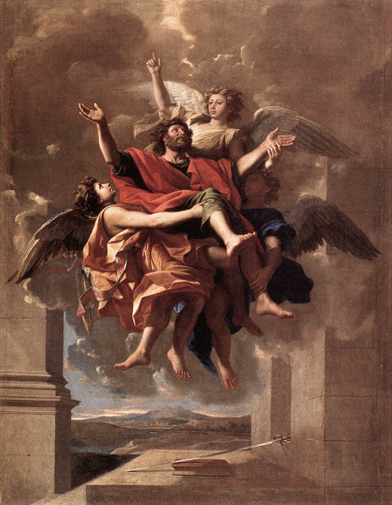 The Ecstasy Of St Paul 1649 | Nicolas Poussin | Oil Painting