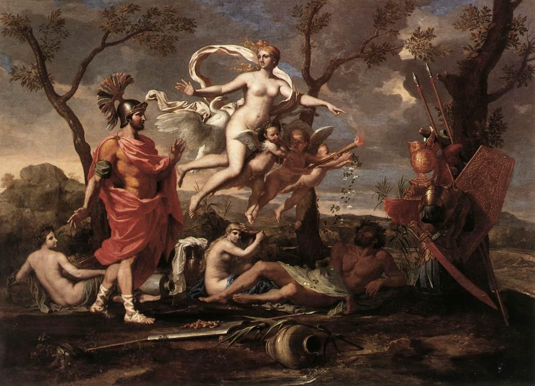 Venus Presenting Arms To Aeneas 1639 | Nicolas Poussin | Oil Painting