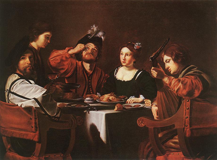 Merry Company | Nicolas Tournier | Oil Painting
