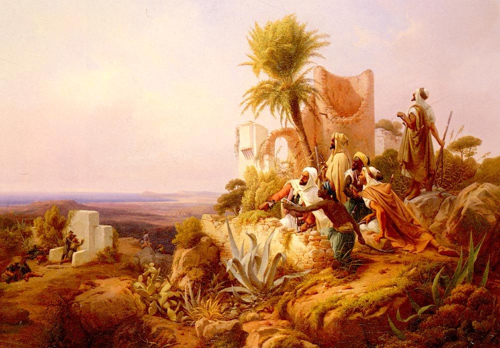 An Arab Soldier | Niels Simonsen | Oil Painting