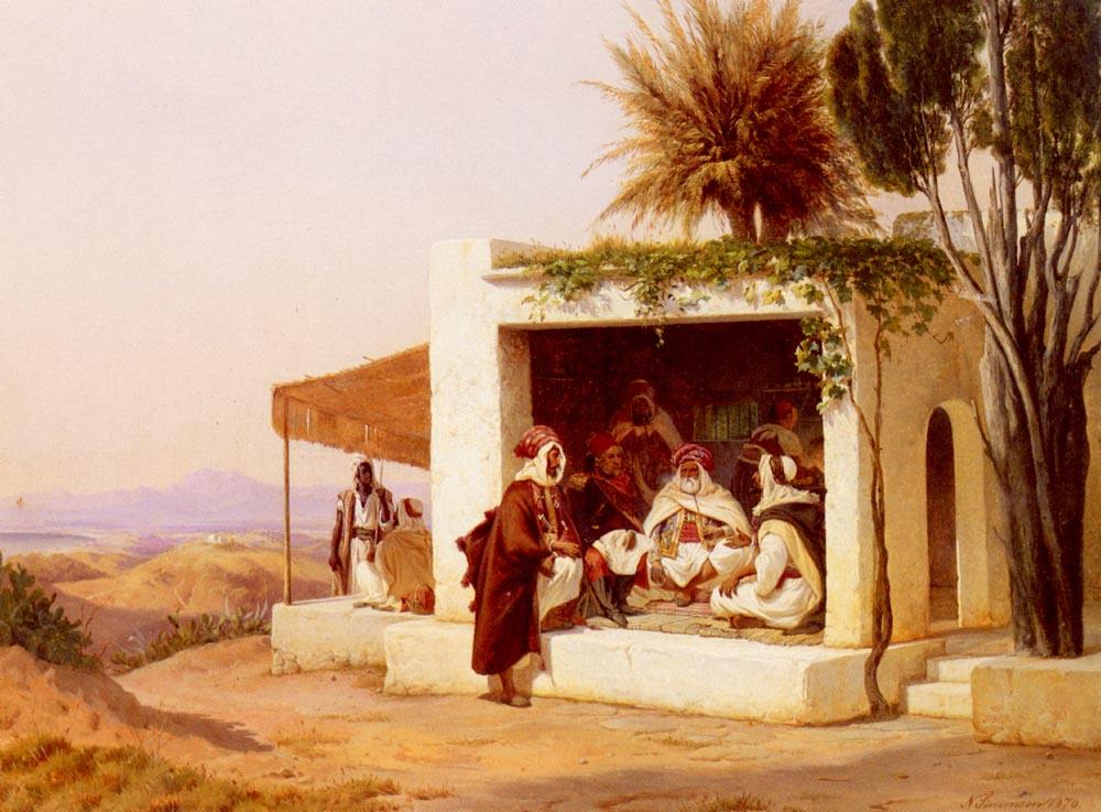 A Street In Baskra  Alegria | Niels Simonsen | Oil Painting
