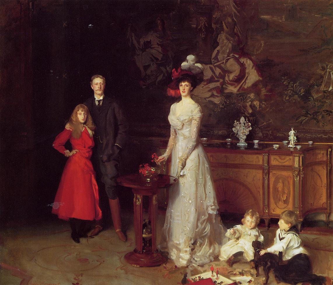 Sir George Sitwell Lady Sitwell and Family 1900 | John Singer Sargent | Oil Painting