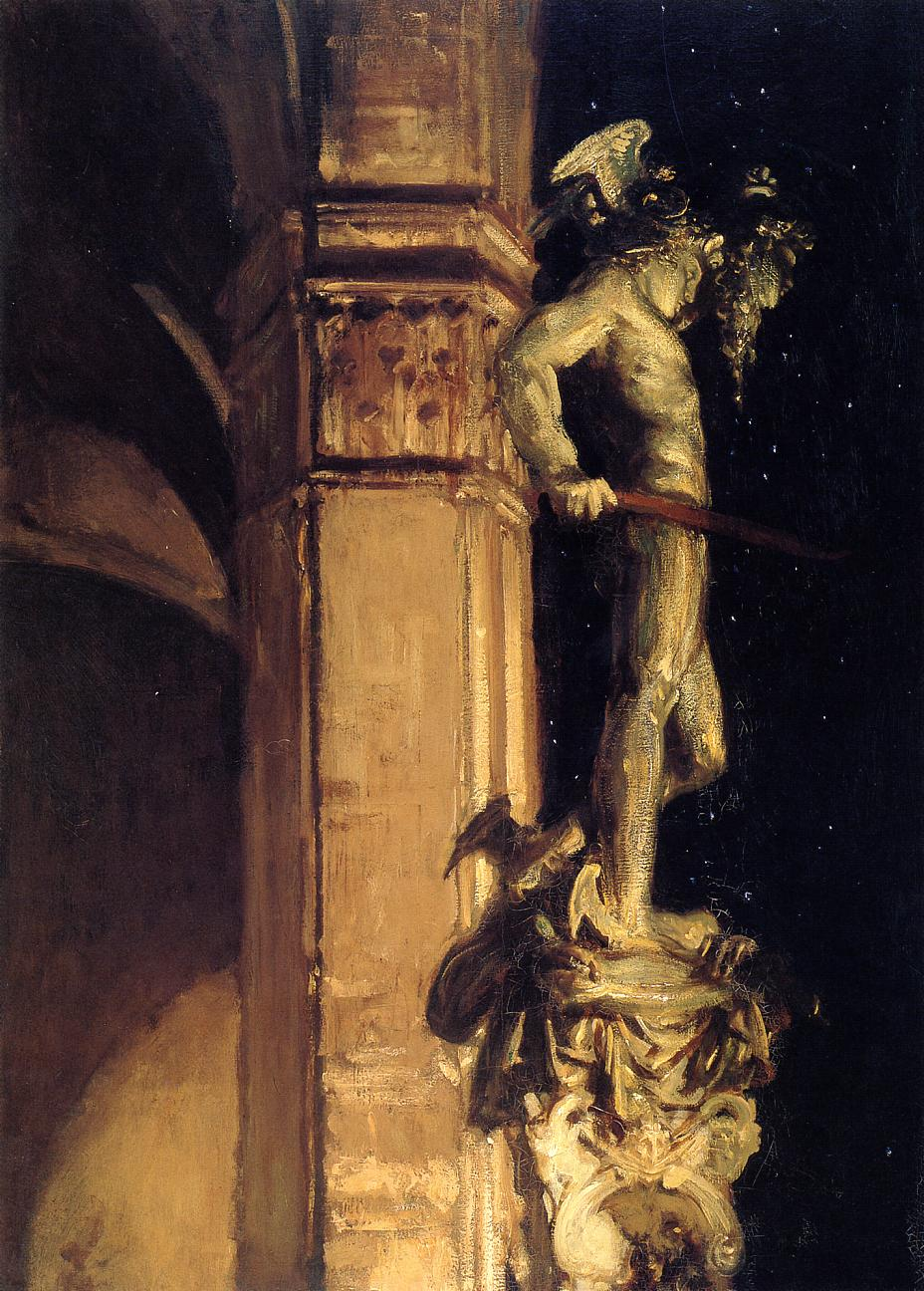 Statue of Perseus by Night 1902 | John Singer Sargent | Oil Painting