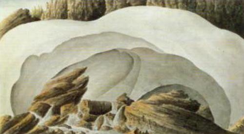Glacier in the Mountains | Ander Fredrik Skjoldebrand | Oil Painting