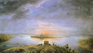 Midnight Sun over Tornea | Ander Fredrik Skjoldebrand | Oil Painting