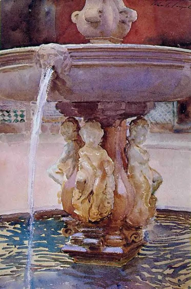 The Spanish Fountain 1902 | John Singer Sargent | Oil Painting