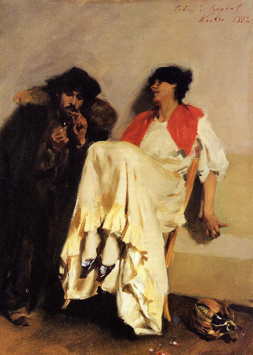 The Sulphur Match 1882   John Singer Sargent   Oil Painting
