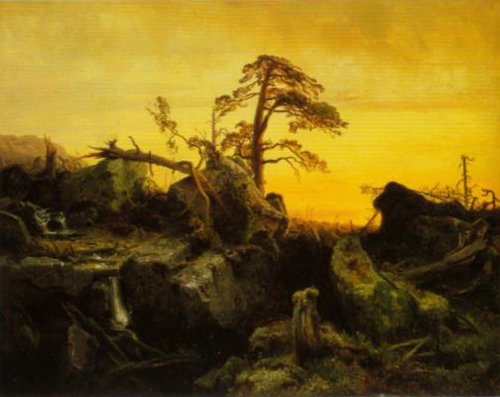 Dying Forest (unfinished) 1852 | August Cappelen | Oil Painting