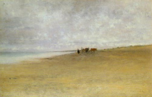 Mist By The Sea | August Hagborg | Oil Painting