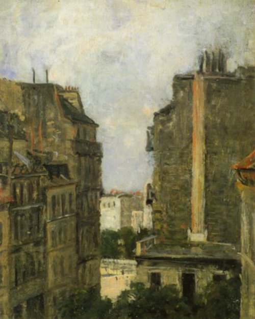 View From The Artist's Studio towards Boulevard Clichy 1870 | Berndt Lindholm | Oil Painting