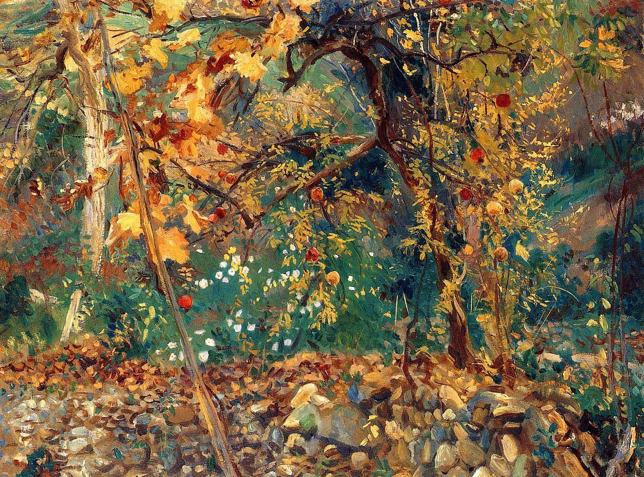 Valdemosa Pomegranate Trees 1908 | John Singer Sargent | Oil Painting