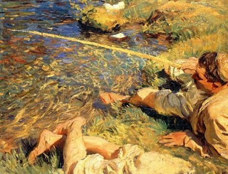 Val dAosta Man Fishing 1907 | John Singer Sargent | Oil Painting