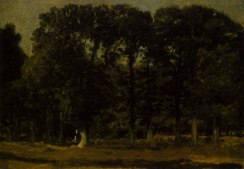 Forest Study from Dyrehaven 1825 | C.w.Eckersberg | Oil Painting