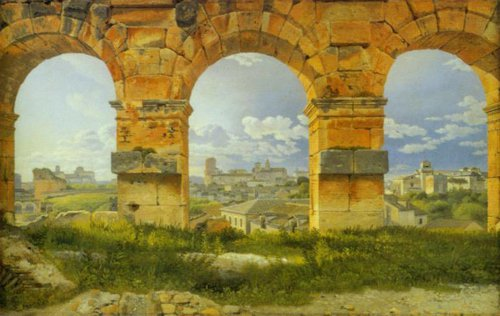 View through Three of the Northwestern Arches of the Third Storey of the Colosseum 1815 16 | C.w.Eckersberg | Oil Painting