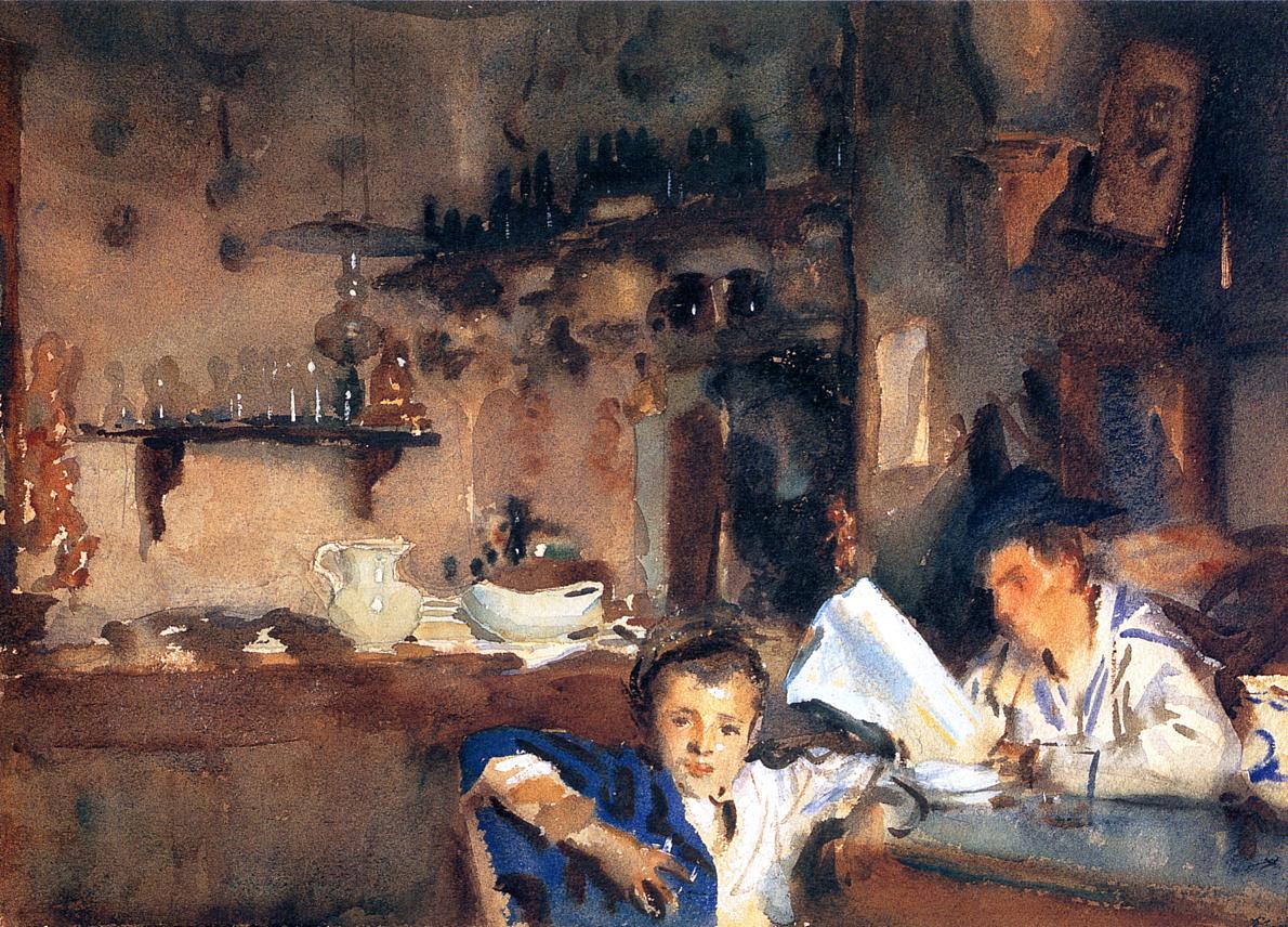 Venetian Interior (aka Spanish Interior) 1903 | John Singer Sargent | Oil Painting
