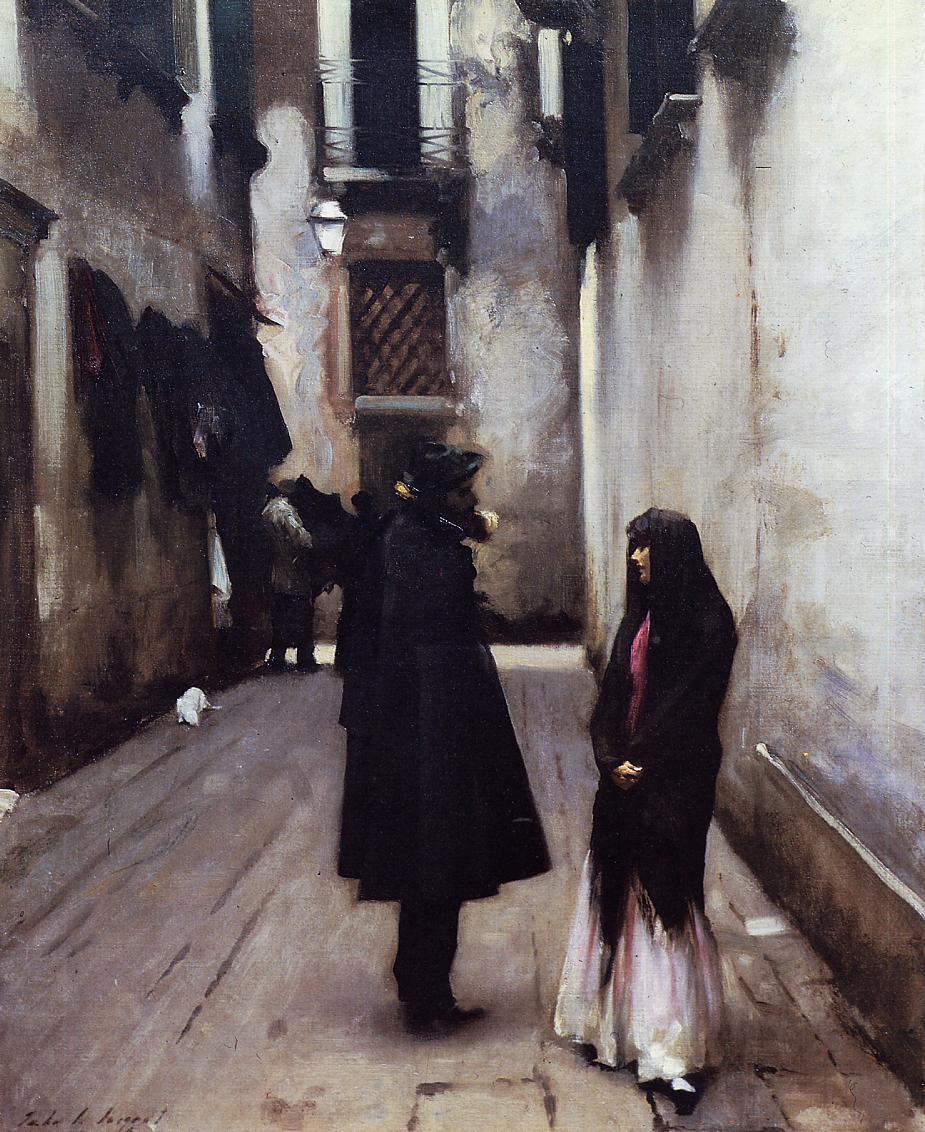 Venetian Street 1880-1882 | John Singer Sargent | Oil Painting