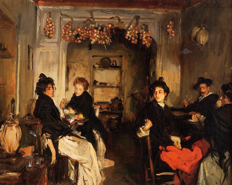 Venetian Wineshop 1898 | John Singer Sargent | Oil Painting