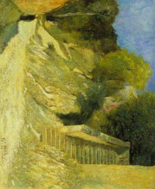 Steps in Montigny sur Loing 1876 | Carl Fredrik Hill | Oil Painting
