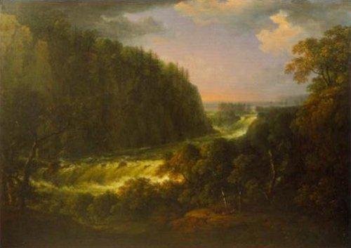 The Waterfall at Trollhattan 1828 | Carl Johan Fahlcrantz | Oil Painting