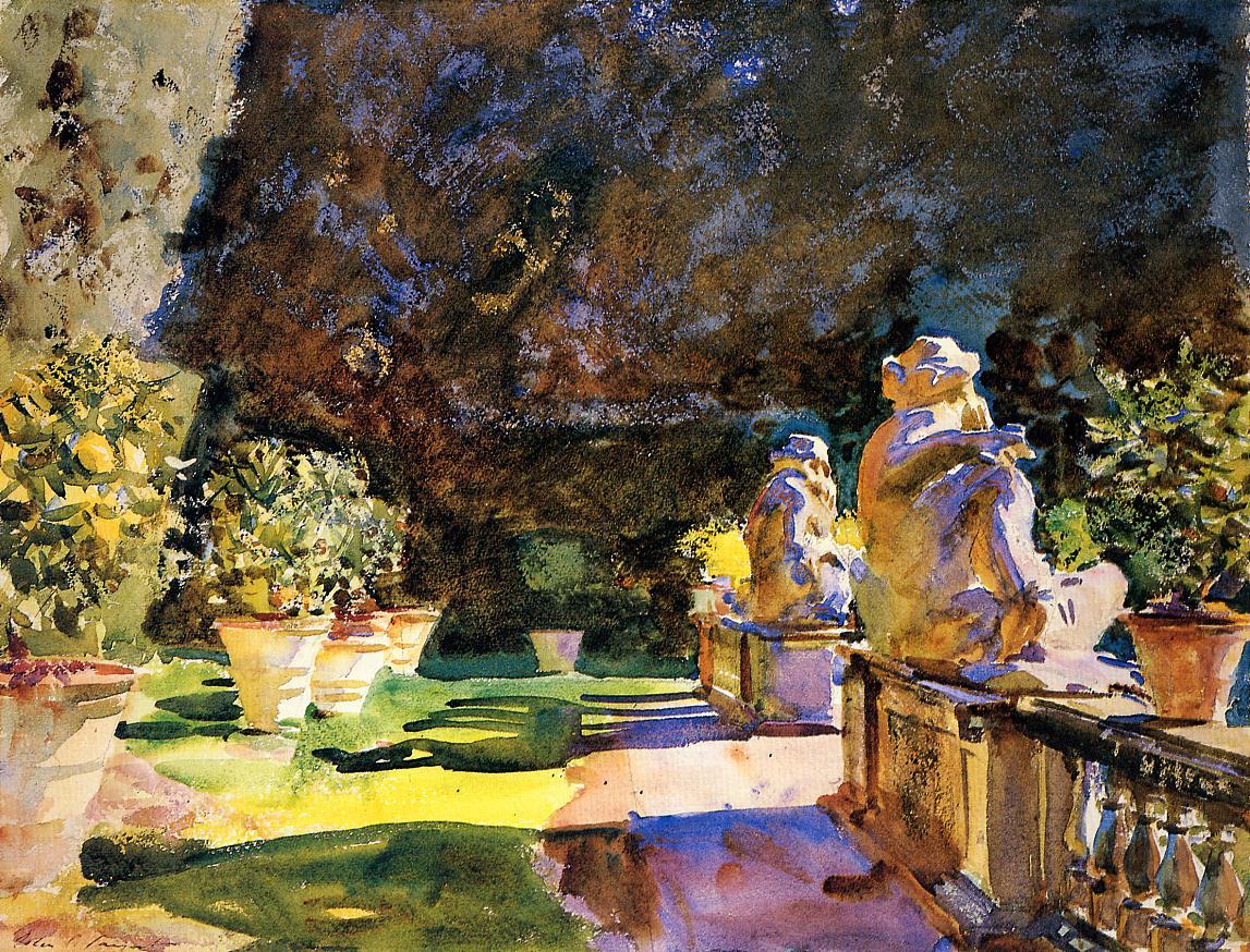 Villa di Marlia Lucca 1910 | John Singer Sargent | Oil Painting