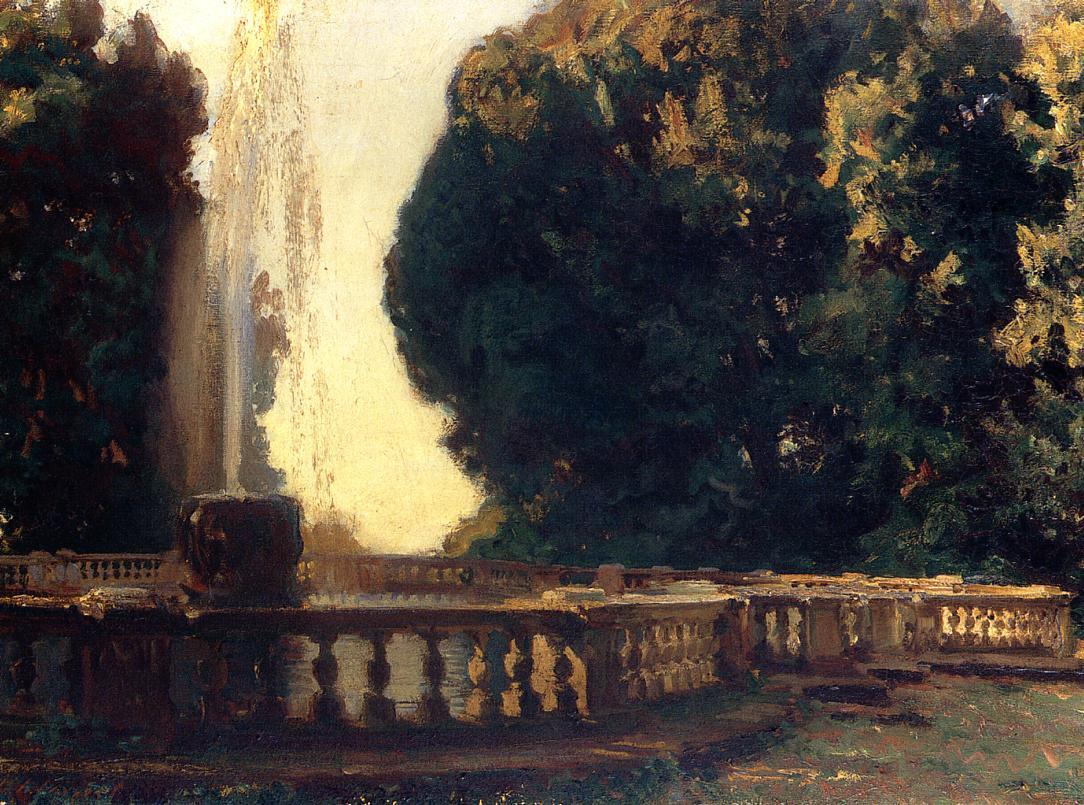 Villa Torlonia Fountain 1907 | John Singer Sargent | Oil Painting