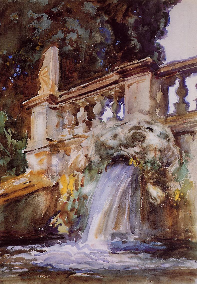 Villa Torlonia Frascati 1907 | John Singer Sargent | Oil Painting