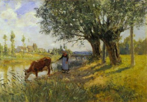 Landscape Grez Sru Loing 1889 | Carl Tragardh | Oil Painting