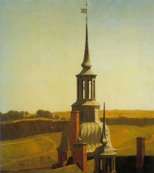 One of the Small Towers on Frederisksborg Castle 1834 5 Kunstindustrimuseet Copenhagen | Christen Kobke | Oil Painting