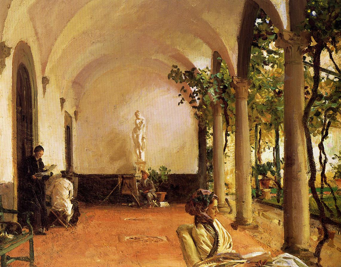 Villa Torre Galli The Loggia 1910 | John Singer Sargent | Oil Painting