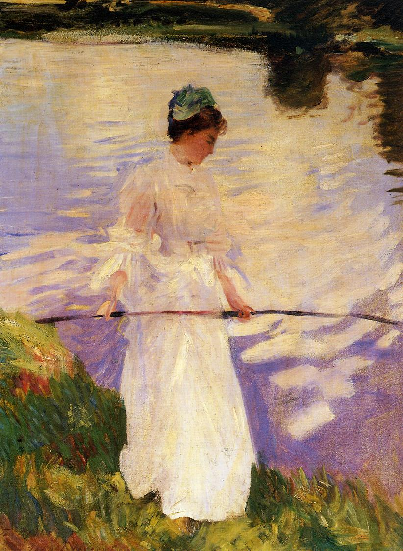 Violet Fishing 1889 | John Singer Sargent | Oil Painting