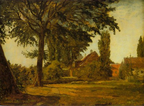 View from Falkoner Avenue 1845 7 | Christen Kobke | Oil Painting