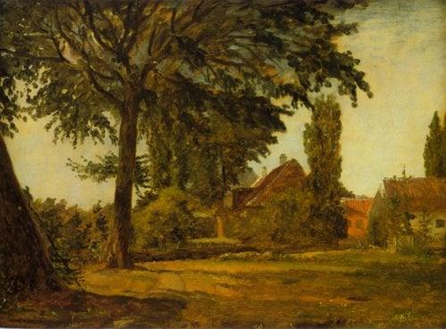 View from Falkoner Avenue 1845 7   Christen Kobke   Oil Painting