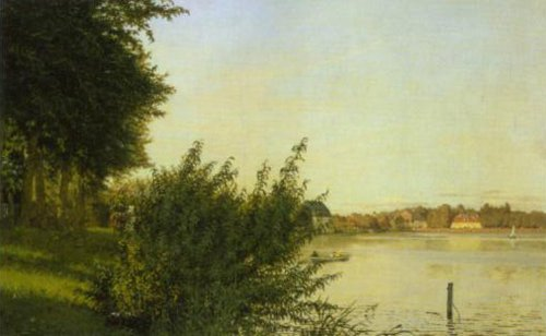View of Dosseringen in Afternoon Light towards Osterbro 1836   Christen Kobke   Oil Painting
