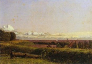 View over Landgelinie and the Sound from the Ramparts of the Citadel 1833 | Christen Kobke | Oil Painting