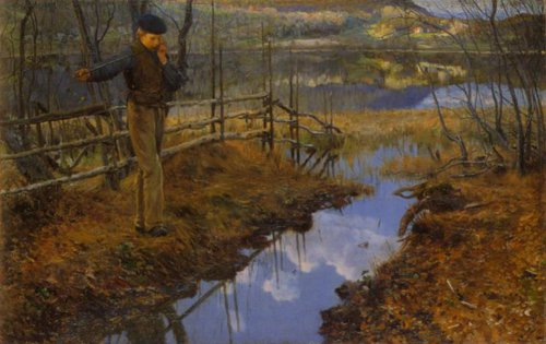 The Boy with the Willow Flute 1889 | Christian Skredsvig | Oil Painting